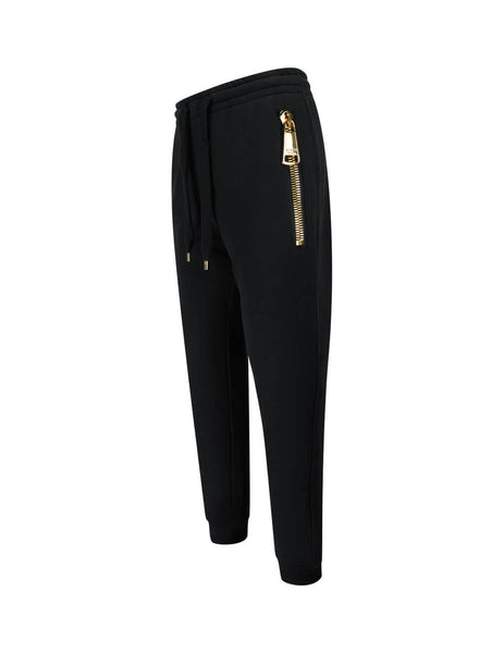 Men's Black Moschino Oversized Zip Sweatpants 03095227J6555
