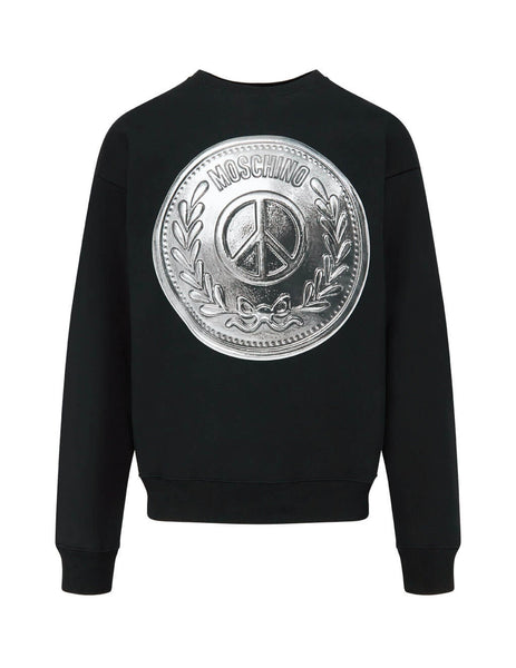 Moschino Men's Black Shield Cotton Sweatshirt A172320271555