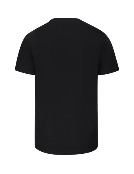 Moschino Men's Black Shield Cotton T-Shirt A071820401555