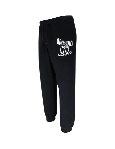 Moschino Men's Black Twisted Logo Sweatpants A03452301555