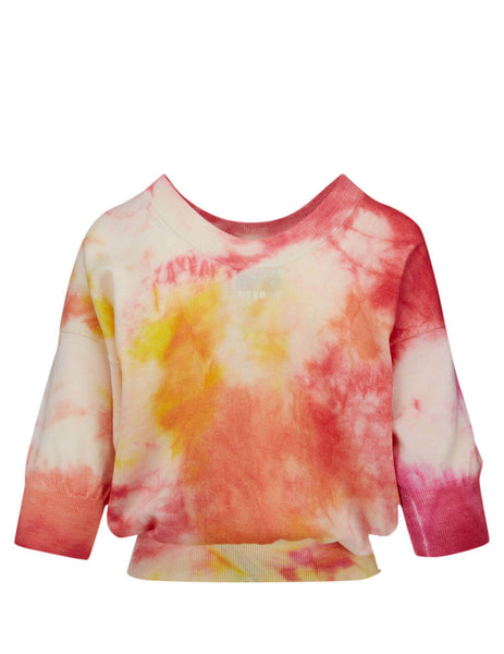 MSGM Women's Red Tie-Dye Knit 2841MDM170 207267-18