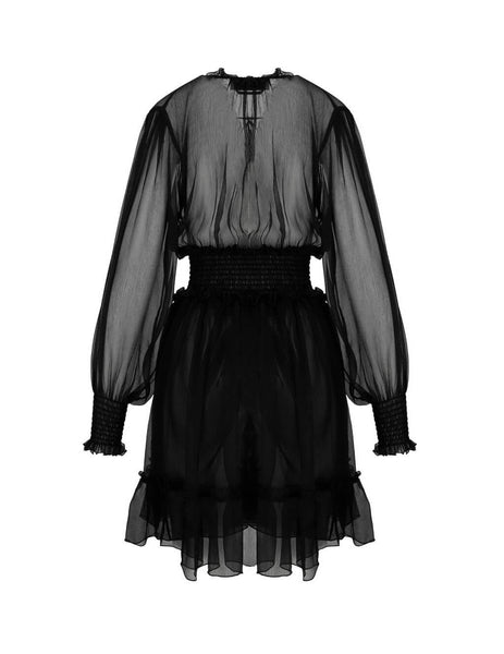 Women's Black MSGM Tulle Dress 2842MDA13720731399