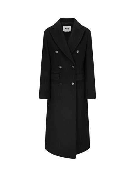 Women's MSGM Dreamers Coat in Black. 2941MDC15 207521 99
