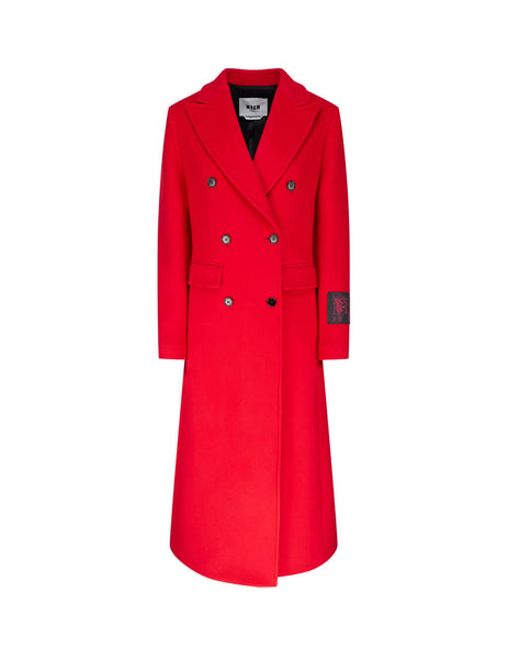 MSGM Women's Giulio Fashion Red Dreamers Coat 2941MDC15 207521 18