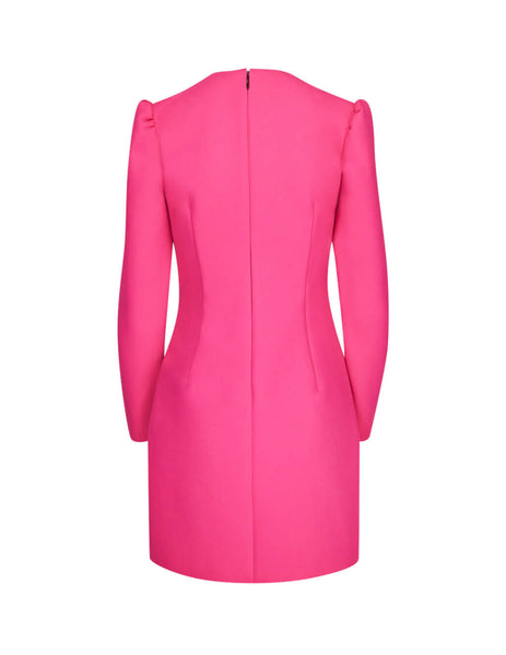 MSGM Women's Fuchsia Wrap-Front Dress 2741MDA0719560014