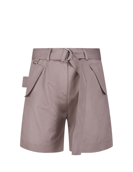 MSGM Women's Giulio Fashion Sand High-Rise Shorts 2842MDB11420731123