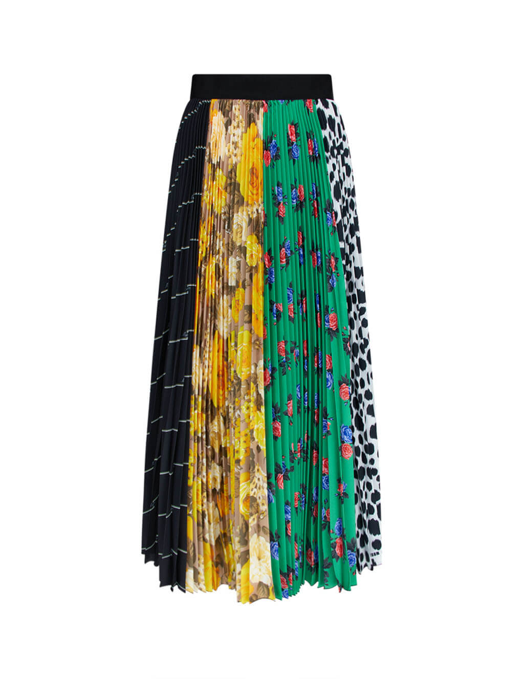 Women's MSGM Multi Pattern Skirt in Multicolour. 2941MDD27P 207778 03