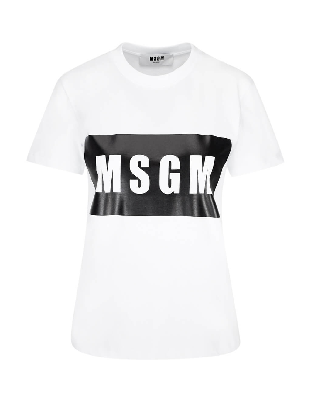 MSGM White Box Logo T-Shirt Optical White 2741MDM9519579701