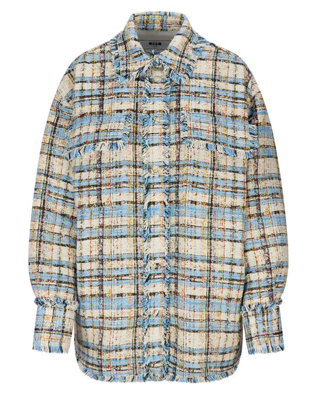 Tweed Oversized Overshirt