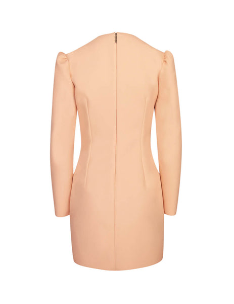 MSGM Women's Peach Pink Wrap-Front Dress 2741MDA0719560011