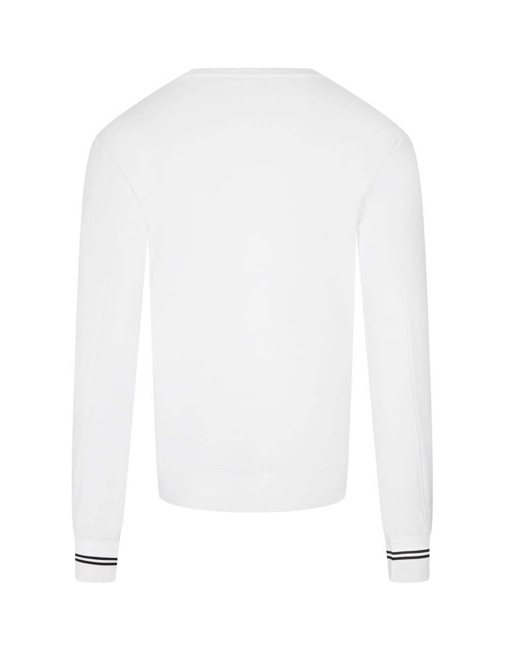 mens neil barrett logo no logo crewneck sweatshirt in white and black PBJS662S-P541S 1849