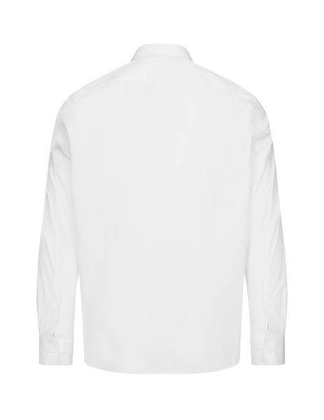 Neil Barrett Men's White Shirt With Piercing Badge PBCM1308CN052C526