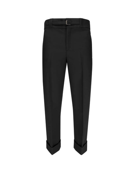 Neil Barrett Men's Giulio Fashion Black Adjustable Tailored Trousers BPA729M10001
