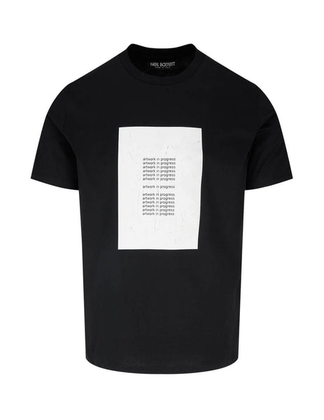 Men's Neil Barrett Artwork in Progress T-Shirt in Black - BJT878S-P527P 2986