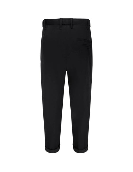 Neil Barrett Trousers Men's Black Belted Trousers BPA817V-P083 01