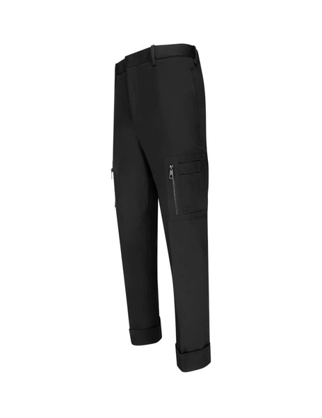 Neil Barrett Men's Giulio Fashion Black Cuffed Cargo Trousers BPA730M00401