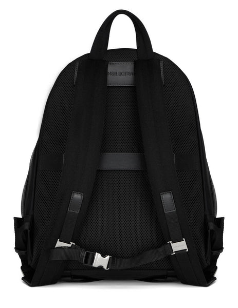 Men's Neil Barrett Enamel Badge City Backpack in Black - PBBO201B-Q910001