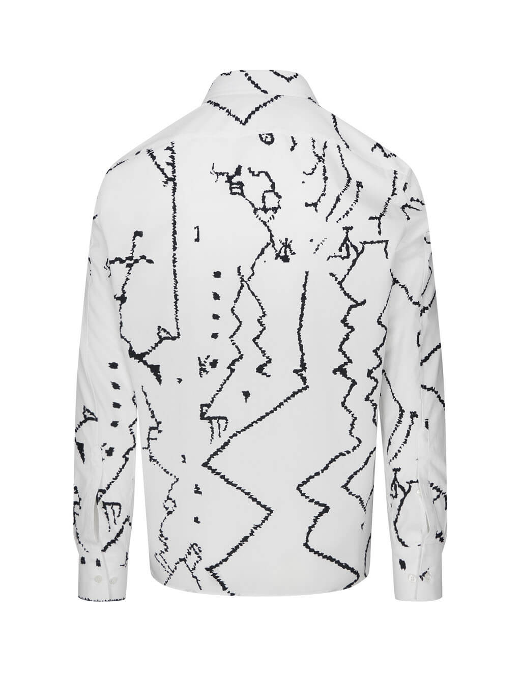 Men's Neil Barrett Line Drawing Shirt in White - BCM1455S-P096 526
