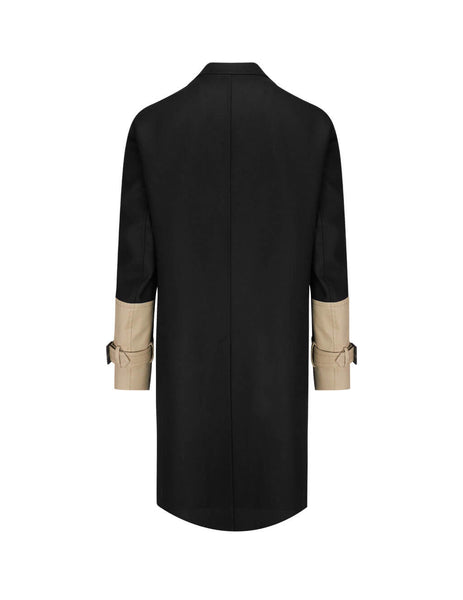 Neil Barrett Men's Black Two-Tone Coat BCA330C-P212C 2449