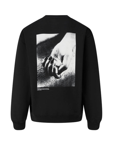 Men's Black OAMC Daido Moriyama Crewneck Sweatshirt OAMR706682OR243708B-001