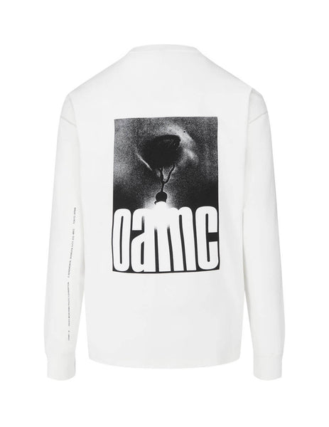 Men's OAMC Daido Long Sleeve T-Shirt in Off White. OAMR700282OR247608A101