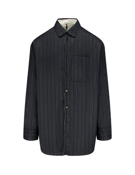 Men's OAMC Henry Shirt in Black - OAMR600836OR370100B001