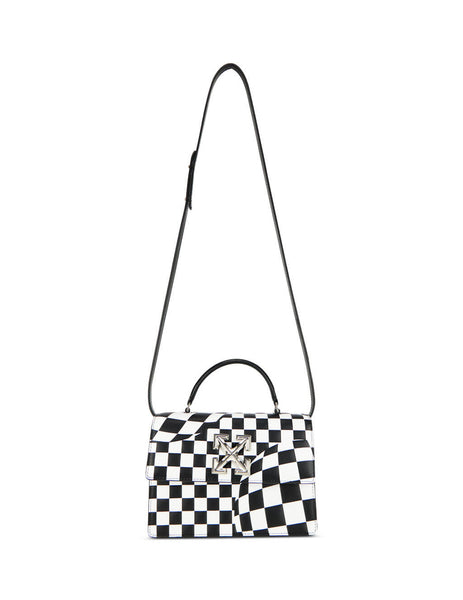 Off-White Women's Giulio Fashion Black/White 1.4 Checked Jitney Bag OWNA092F199900501000