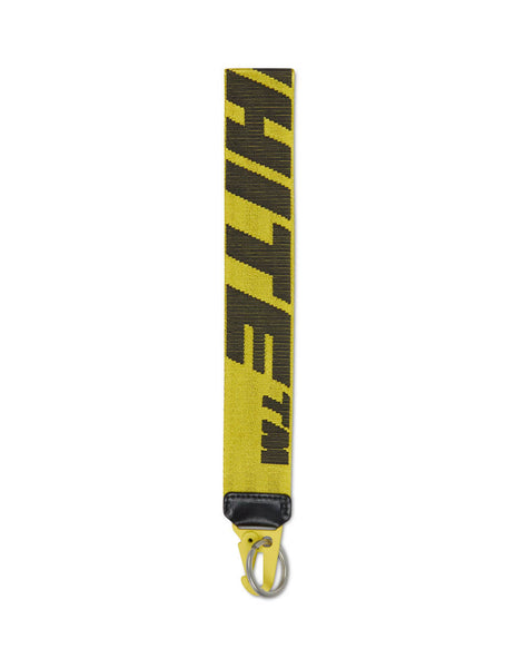 Men's Off-White 2.0 Industrial Key Holder in Yellow/Black OMZG019E20FAB0011810