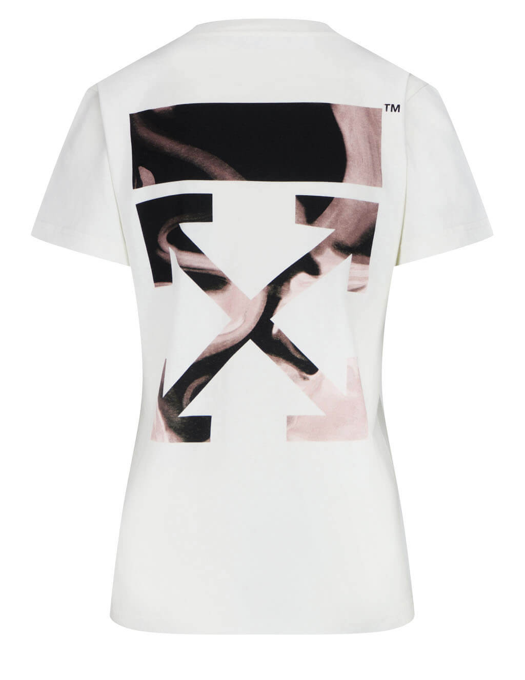 Women's Off-White Arrow Liquid Melt T-Shirt in White - OWAA049R21JER0010331