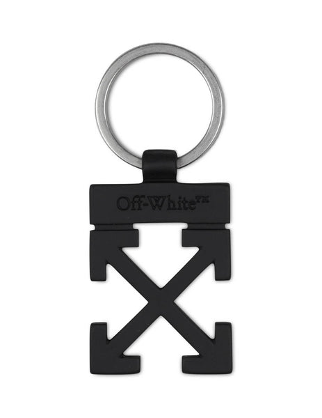 Men's Off-White Arrows Key Holder in Black Metal OMZG021E20MET0011000