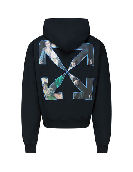 Off-White Men's Giulio Fashion Black Caravaggio Painting Hoodie OMBB037E20FLE0031010