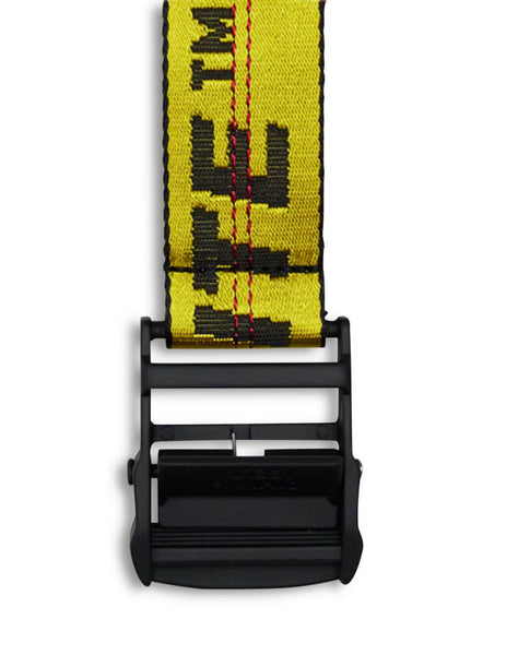 Men's Off-White Classic Industrial Belt in Yellow/Black OMRB012E20FAB0011810