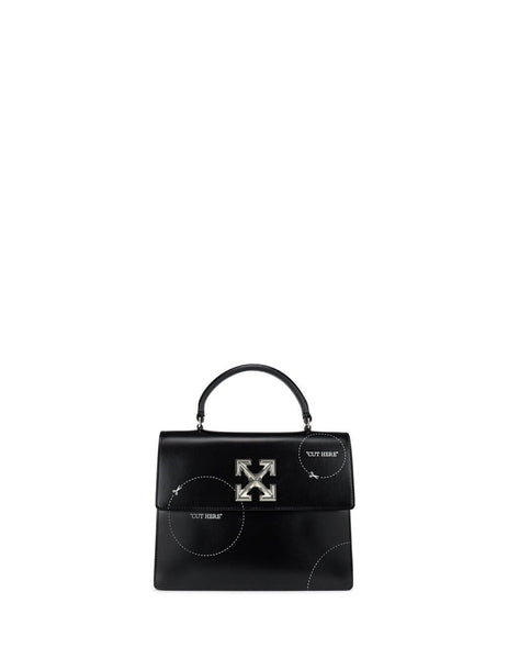 "Women's Black Off-White ""CUT HERE"" 2.8 Jitney Bag OWNA090S20LEA0071001"