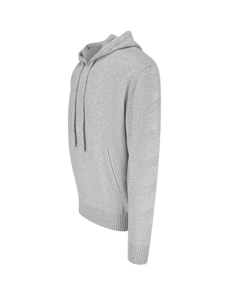 mens off-white diag cashmere jumper in grey OMHA097F20KNI0010900