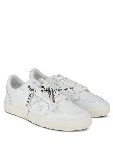 mens off-white low vulcanized sneakers in white OMIA085F20LEA0030101