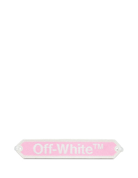Off-White Women's Pink and White Macrame Bracelet OWOA008R20D240852701