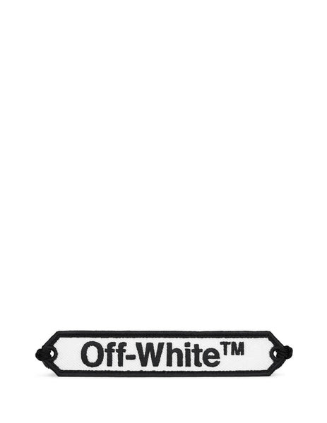 Off-White Women's White and Black Macrame Bracelet OWOA008R20D240850110