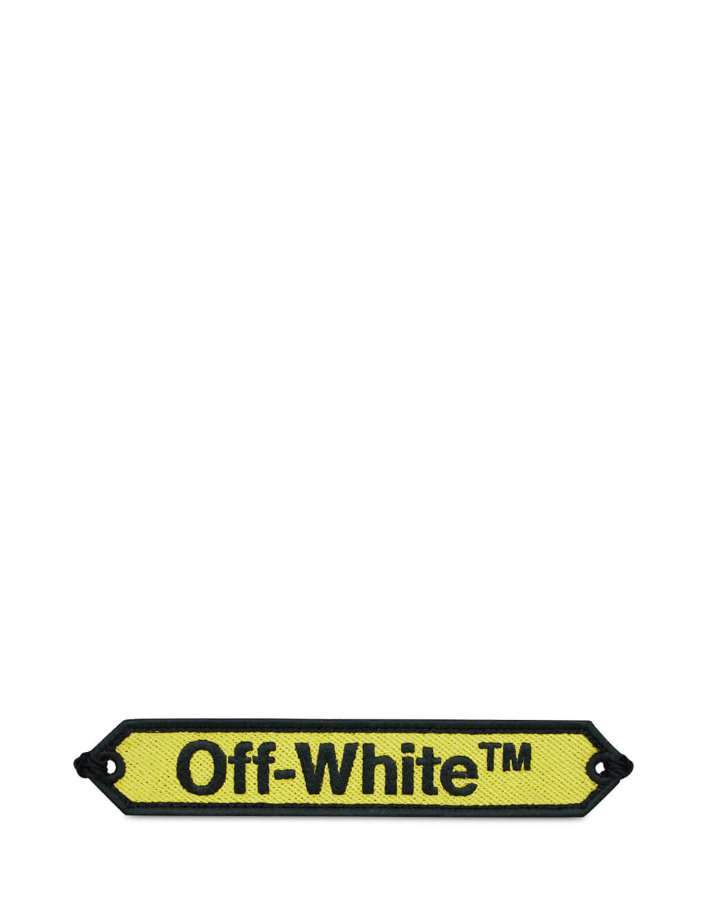 Off-White Women's Yellow and Black Macrame Bracelet OWOA008R20D240856010