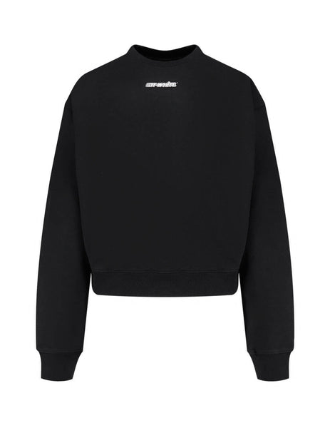Men's Off-White Marker Pen Arrows Crewneck Sweatshirt in Black/Red OMBA035E20FLE0021025