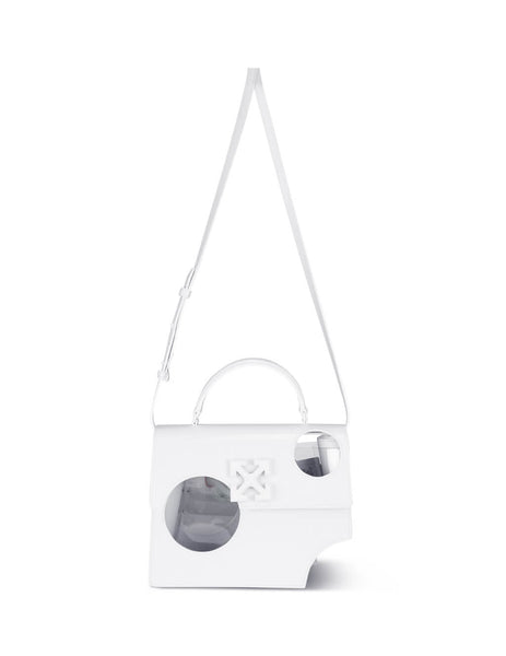 Women's White Off-White Meteor Shower 2.8 Jitney Bag OWNA113S20LEA0010100