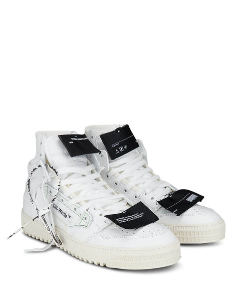 Men's Off-White Off-Court Sneakers in White OMIA065E20LEA0020100