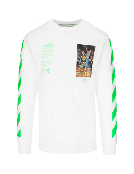 Off-White Men's White Pascal Painting Long Sleeve T-Shirt OMAB001R201850140188