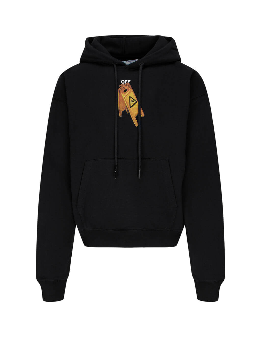 mens off-white pascal skeleton oversized fit hoodie in black OMBB037F20FLE0011010