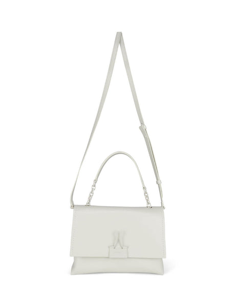 Women's White Off-White Soft Medium Binder Clip Bag OWNA120S20LEA0010300
