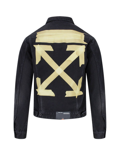 Off-White Men's Black Tape Arrows Denim Jacket OMYE005R20E540021048