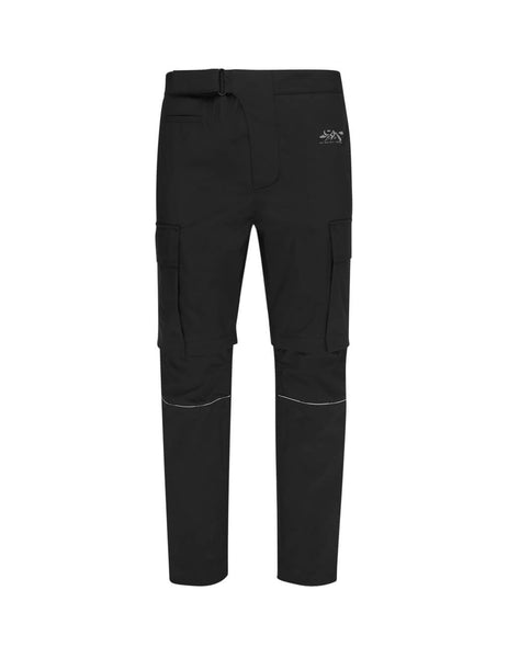 Off-White Men's Giulio Fashion Black Tech Zip Off Cargo Pants OMKH001R20G390301001