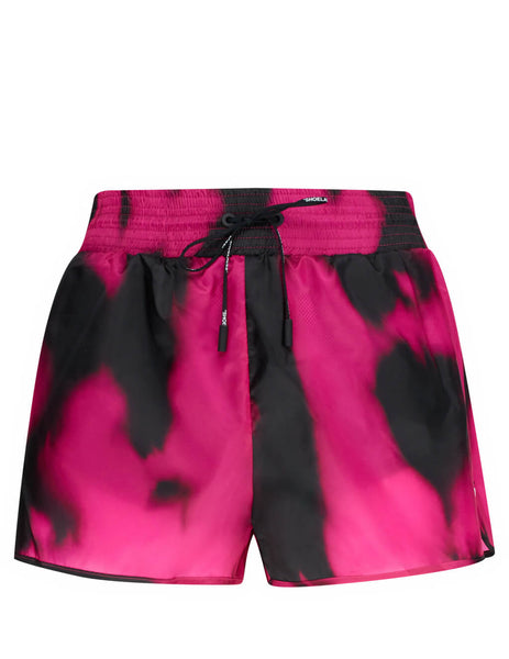Off-White Women's Giulio Fashion Fuschia Tie-Dye Active Shorts OWCB020R20D530882800