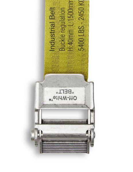 Off-White Men's Giulio Fashion Yellow 2.0 Industrial Belt 40 MM OMRB034R20F420356010