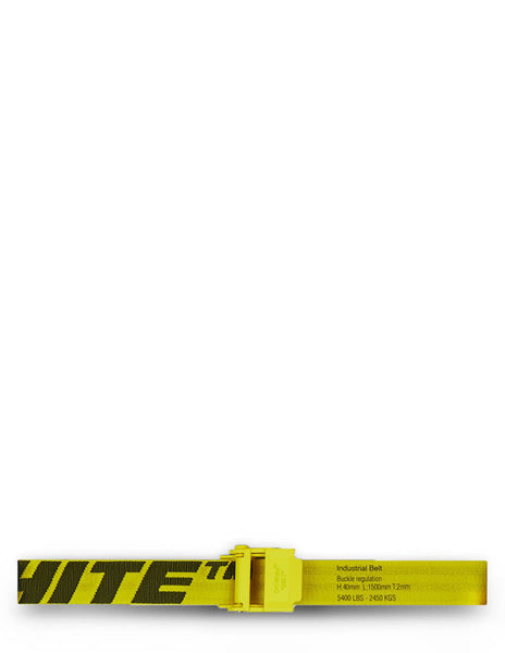 Men's Off-White 2.0 Industrial Belt in Yellow/Black - OMRB034R21FAB0011810