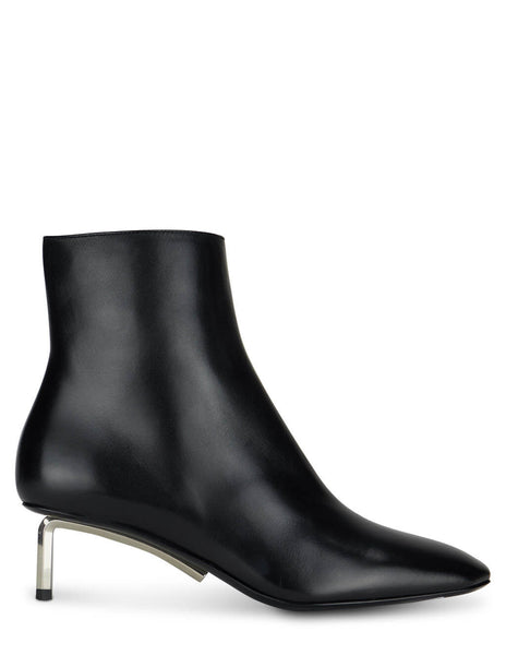 Women's Off-White Allen Ankle Boots in Black - OWID004R21LEA0011000